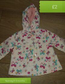 Baby girls jacket 0-3 & 3-6 months