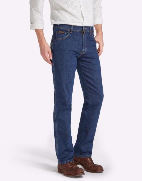 Wrangler Texas Stretch heren jeans Dark Stonewash W12133009