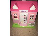 Baby born hospital with dolls