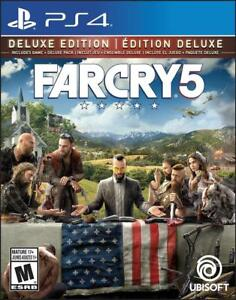 NEW Far Cry 5 Deluxe Edition (Includes Extra Content) - Trilingual - PlayStation 4