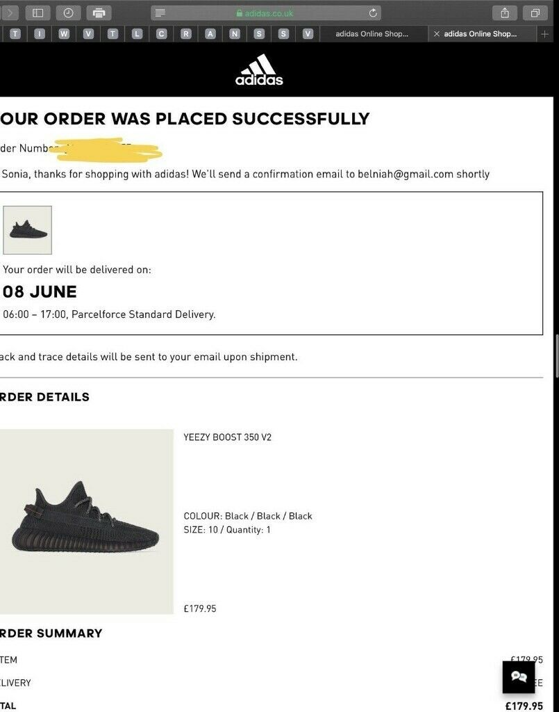 half off quality design new lifestyle Adidas YEEZY Boost 350 V2 - Black - TRIPLE BLACK - UK 10 CONFIRMED Order |  in Salford, Manchester | Gumtree