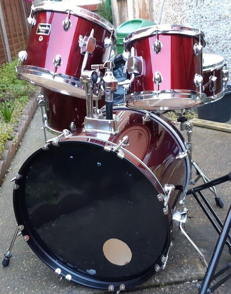 Mapex Tornado Drum Kit Fusion Sizes Burgandy | in Gorleston, Norfolk |  Gumtree