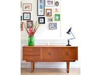 Stylish Vintage Danish style teak sideboard. Delivery. Modern/Midcentury. Delivery. Great condition!