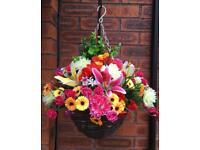 Artificial Hanging Baskets £22 each