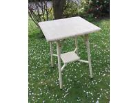 Pretty conservatory / occasional table (Lloyd loom style)