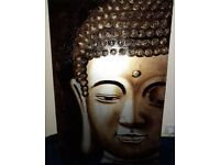 Large Buddha Canvas Excellent condition Smoke Free Home