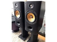 Bower and Wilkins 602 S3 Speakers and stands, original perfect condition.