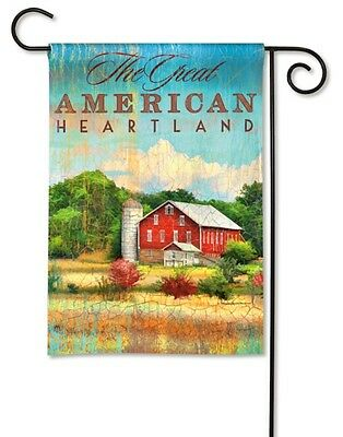 Red Barn The Great American Heartland Small Garden Banner Flag 12.5x18 Country