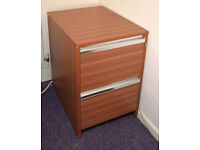2 Draw Wood Laminate Filing Cabinet