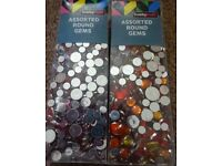 New Large Pack of Assorted Round Gems Pack Only £2 each art and craft scrapbooking xmas gift