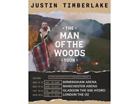X 4 Justin Timberlake Standing Tickets SSE Hydro Glasgow