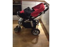 Icandy apple stroller buggy with foot muff