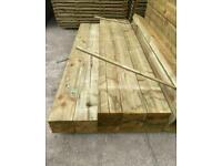 New Wooden Railway Sleepers ~ Pressure Treated