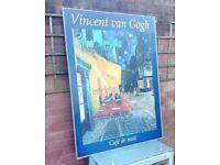 LARGE VINCENT VAN GOGH PRINT on BOARD in FRAME
