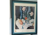 Limited Edition Large Framed Print - Still Life with Rosed in a Glass Vase by Samuel John Peproe