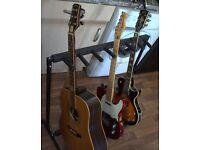 Peavey Jack Daniels, fender MIM Tele, LP Gibson, Guitar rack