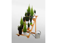 5-tier Etagere Potted Plant Display Stand - Wooden Planter Stand with 5 Shelf