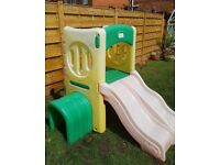 Little Tikes double slide climbing frame with tunnel RRP £260