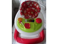 baby walker very clean and excellent condition also a drum kit lovely condition