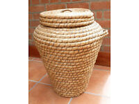 Retro Wicker Laundry Basket (Snake Charmer Style)
