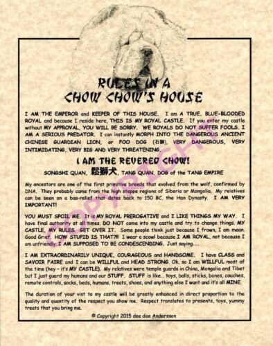 Rules In A Chow Chow
