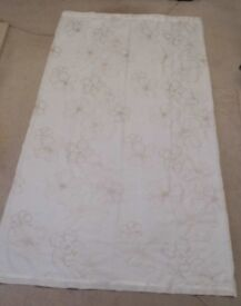 2 X IVORY EMBROIDERED CURTAIN PANELS - BRAND NEW NEVER BEEN HUNG