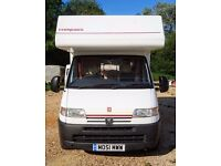 Four berth Avantgarde 200 Motor-home Peugeot Boxer 2001 good condition mot May 2018