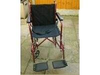 COOPERS LIGHTWEIGHT PUSH TRANSIT WHEELCHAIR