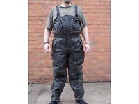 NATO Army Waterproof Bib & Brace / Salopettes Trouser Wet / Cold Weather Padded