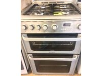 HOTPOINT ULTIMA GAS COOKER DOUBLE OVEN WITH GRILL FREE DELIVERY AND WARRANTY