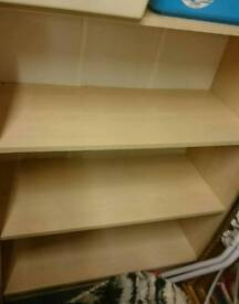 Large beech bookcase