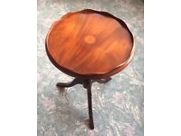 Elegant inlaid occasional side/wine table