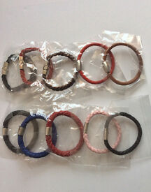 Wholesale Clearance sale Genuine Leather Bracelets 100pcs Good for car boot/ebay/ Fashion shops @50p