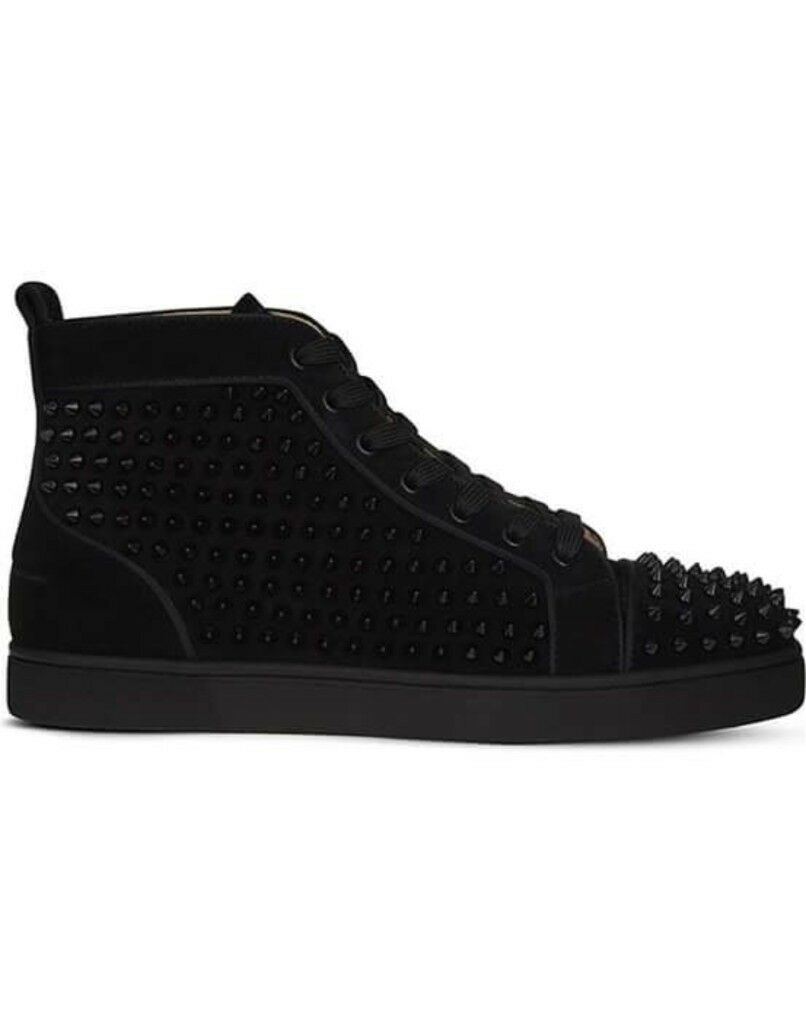 new york d47c2 157af Christian Louboutin- Men's Calf Sneakers (Black Suede Leather) 11uk | in  Westminster, London | Gumtree