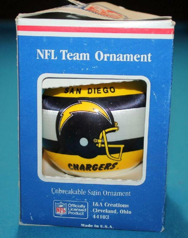 NFL Team Ornament  SAN DIEGO CHARGERS  NIB Unbreakable Satin Ball   PLEASE READ