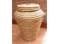 Retro Wicker Laundry Basket (Snake Charmer Style)