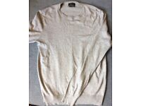 Zara Men Cashmere, Silk, Cotton Jumper, Size L