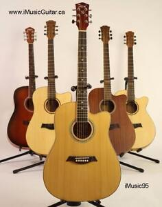 Free Capo and Strap with Acoustic electric Guitar for beginners 41 inch iMuisc95EQ