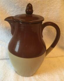 "Vintage Denby ""Bourne"" 3 pint coffee pot."