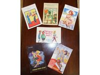 Collection of six seaside style postcards dating between 1950s to 1960s.