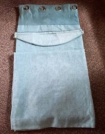 Teal 90 x 90 Curtains and tie backs