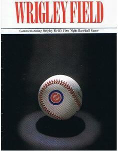 FIRST NIGHT BASEBALL GAME WRIGLEY FIELD 1988 Great Offer London Ontario image 5