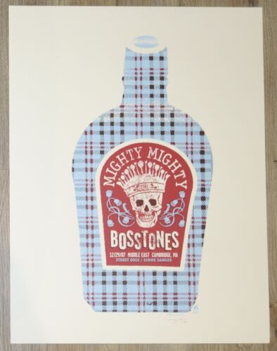 2007 Mighty Mighty Bosstones - Cambridge Silkscreen Concert Poster by Methane