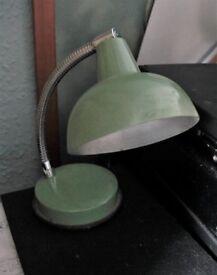 60s/70's DESK LAMP, Vintage, Retro GREEN TABLE LIGHT