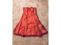 Ladies Dusky Pink Coast Dress with straps or strapless - Size 12
