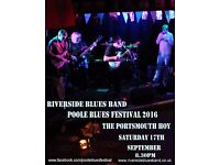 Poole Blues Festival - Riverside Blues Band at The Portsmouth Hoy - Saturday 17th September 9 - 11pm