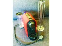 KRUPS XN250 NESPRESSO machine and Tavola Swiss Capstore Vista Nespresso Coffee Capsule Stand