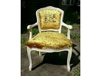 Childs chair gold crushed velvet
