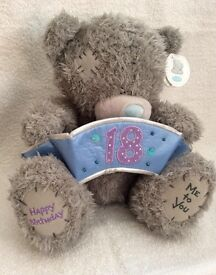"""Me to You"" 18th Birthday Tatty Teddy Bear with ""18 Banner"""