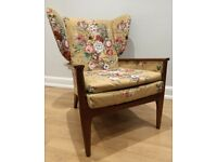 Vintage Mid-Century wingback Parker Knoll armchair